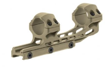 "Leapers UTG 1pc 1"" HIGH 50mm Offset Picatinny Scope Mount FDE Cerakote AIR12250D"